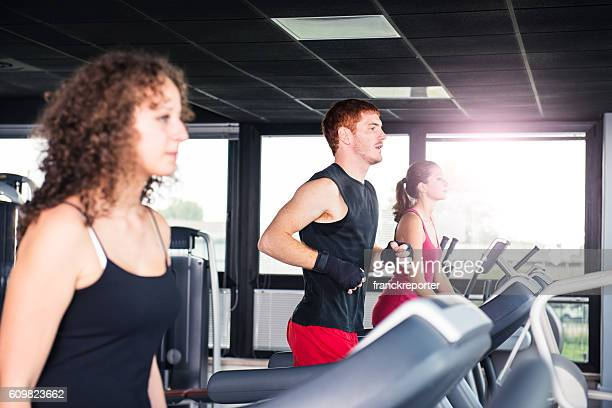 people on the gym treadmill