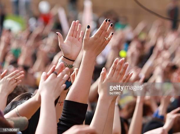 Menschen auf der music festival