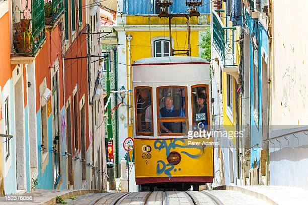 People on Tram, Barrio Alto, Lisbon, Portugal