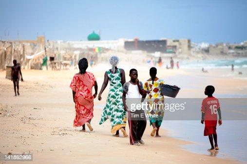 People on Yoff beach, Dakar, Senegal, Africa