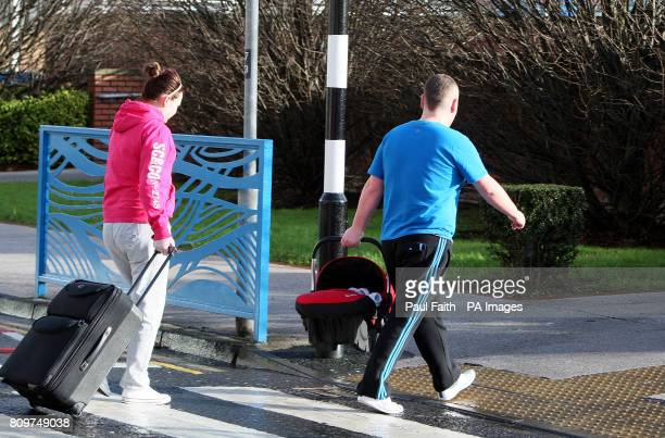 People outside the Royal Jubilee maternity unit BelfastPicture date Saturday January 21 2012 Parents of 24 babies tested for an infection that has...