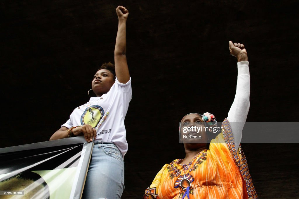 March of the Black Consciousness in Sao Paulo
