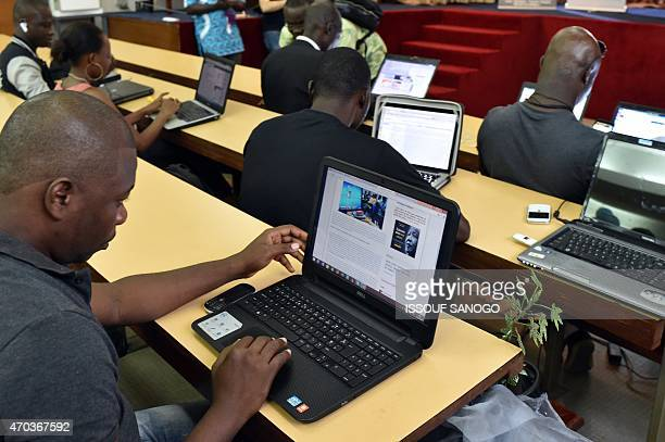 People participate in the 48hour 'hackathon' event in which seven teams compete to develop innovative applications to facilitate access to...