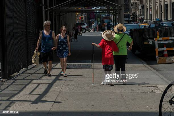 People participate in the first annual Disability Pride Parade on July 12 2015 in New York City The parade calls attention to the rights of people...
