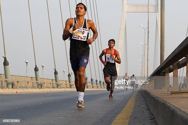 People participates on 30th Indira marathon race on the occasion of former Prime Minister of India Indira Gandhi's 97th birth anniversary in Allahabad