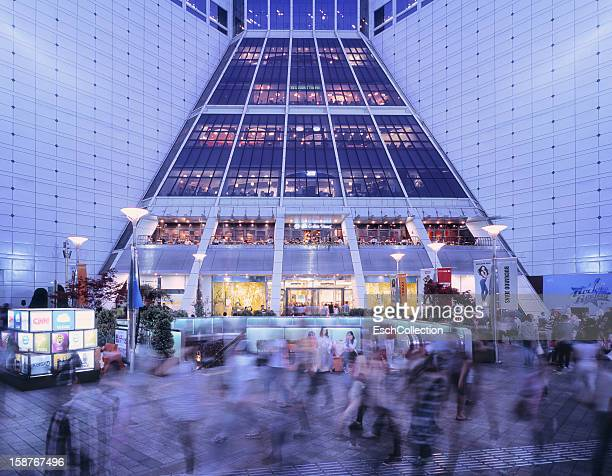 People passing Doota shopping mall in Seoul
