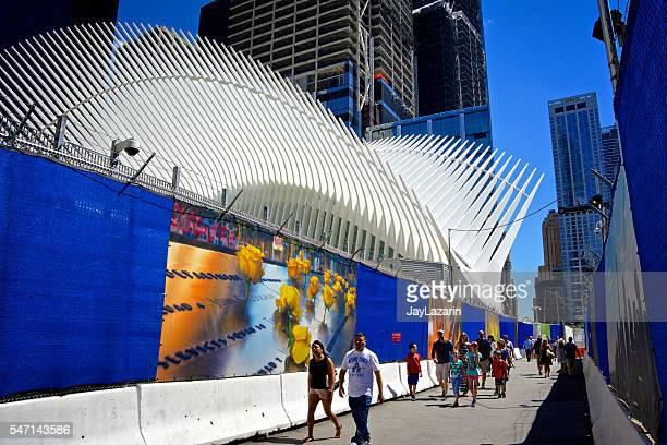 Menschen, die Oculus, World Trade Center Transportation Hub, NYC
