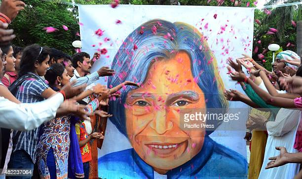 People pay homage to former president Dr A P J Abdul Kalam in Allahabad AJP Abdul Kalam died on Monday evening due to a cardiac arrest he was the...