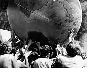 People play 'Earthball' during the 'New Games' segment of the Boston Community Schools' Spring Festival on Boston Common on May 28 1978