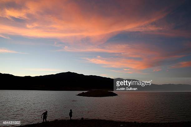 People play in the waters of Shasta Lake August 30 2014 in Shasta Lake California As the severe drought in California continues for a third straight...