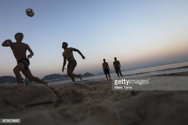 People play soccer on Copacabana beach a former Olympic venue on July 22 2017 in Rio de Janeiro Brazil Nearly one year after Rio hosted the first...