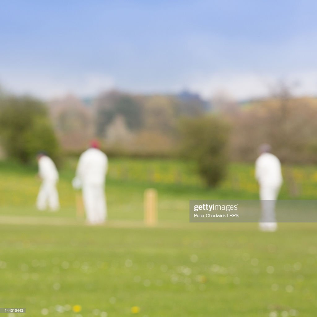 People playing cricket : Stock Photo