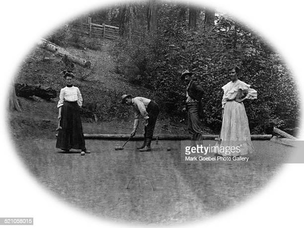 People playing croquet 1900s