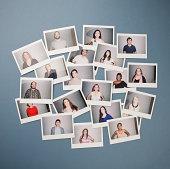 People portraits on instant film