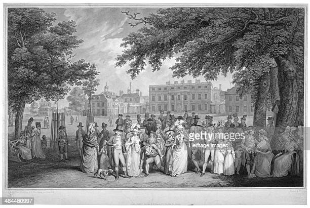 People promenading in St James's Park Westminster London 1793