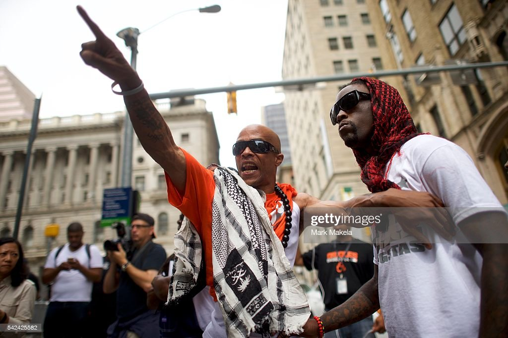 People protest after Baltimore police officer Caesar Goodson Jr. was found not guilty on all charges on June 23, 2016 in Baltimore, Maryland. Officer Goodson, the van driver in the Freddie Gray case, is facing multiple charges including second-degree murder. This is the third trial related to the death of Freddie Gray, who died while in police custody.