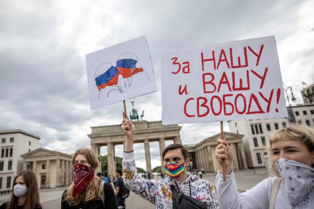 DEU: Protesters Decry Russian Constitution Amendments