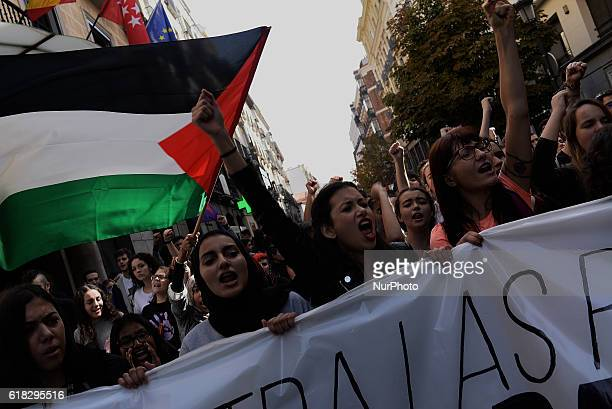 People protest in Madrid against the education reforms on October 26 2016 Demonstration organized by the Students Union against education cuts and...
