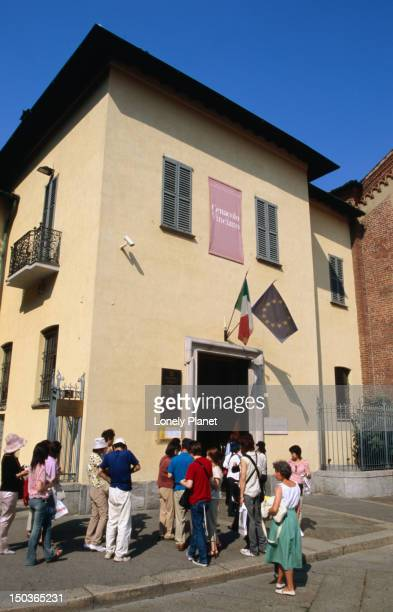 People queuing outside Cenacolo Vinciano to see 'The Last Supper'.