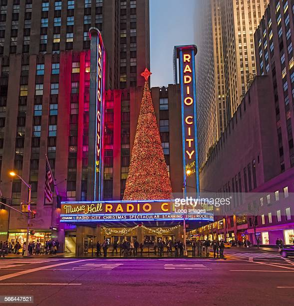 People queuing outside Radio City Music Hall