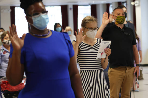 NY: Naturalization Ceremony Held In NYC After Delays Due To Coronavirus