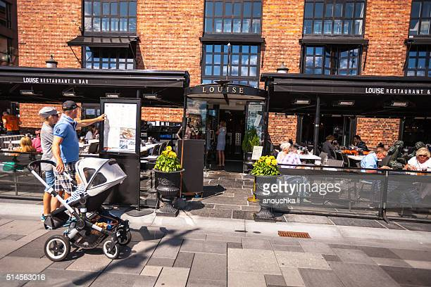 People reading Restaurant Menu, Oslo