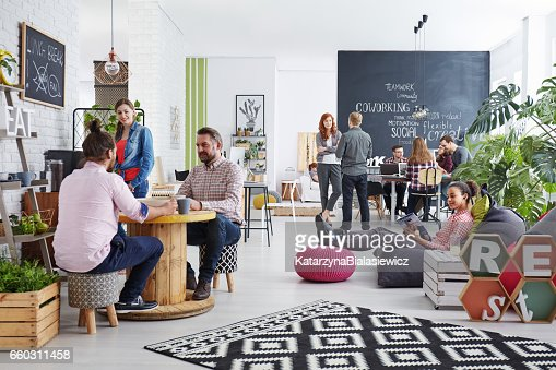 People realxing during lunch break : Stock Photo