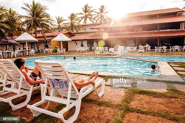People relaxing at a resort in Natal Brazil.
