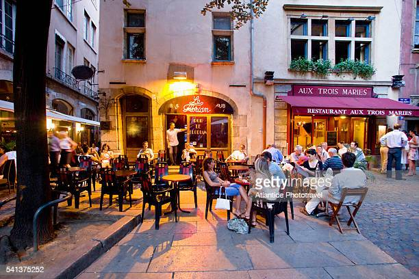 People Relaxing at Outdoor Cafe in Place du Government