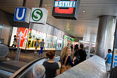 People ride an escalator as they exit a train station at Marienplatz in Munich Germany on Saturday July 23 2016 German Chancellor Angela Merkel will...