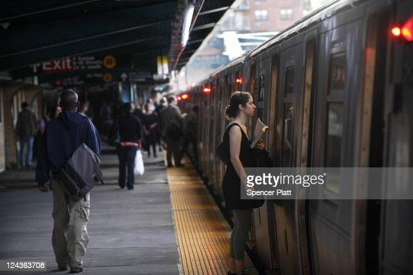 People ride the New York City subway into Manhattan during the morning commute on September 9 2011 in New York City Security is being tightened in...