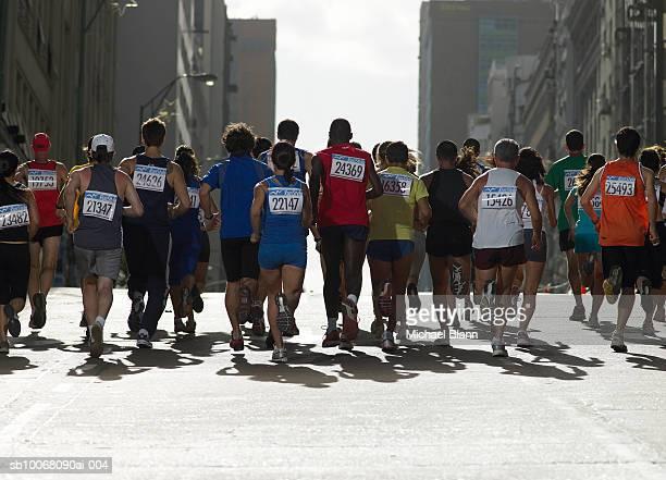 People running in marathon
