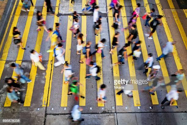 Menschen Rush in Hong Kong, China