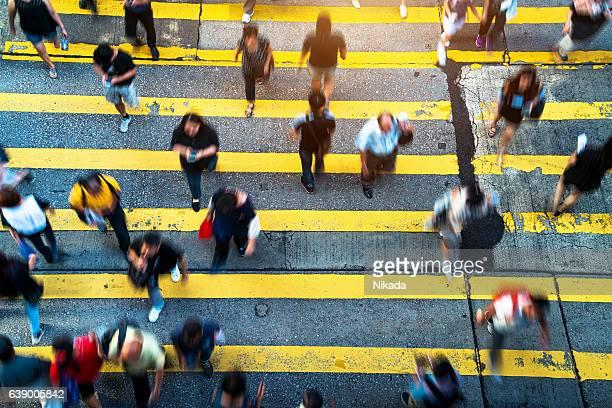 Personnes Rush à Hong Kong