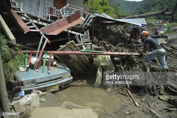 People search for relatives after a landslide in Salgar municipality Antioquia department Colombia on May 18 2015 A massive landslide tore through a...