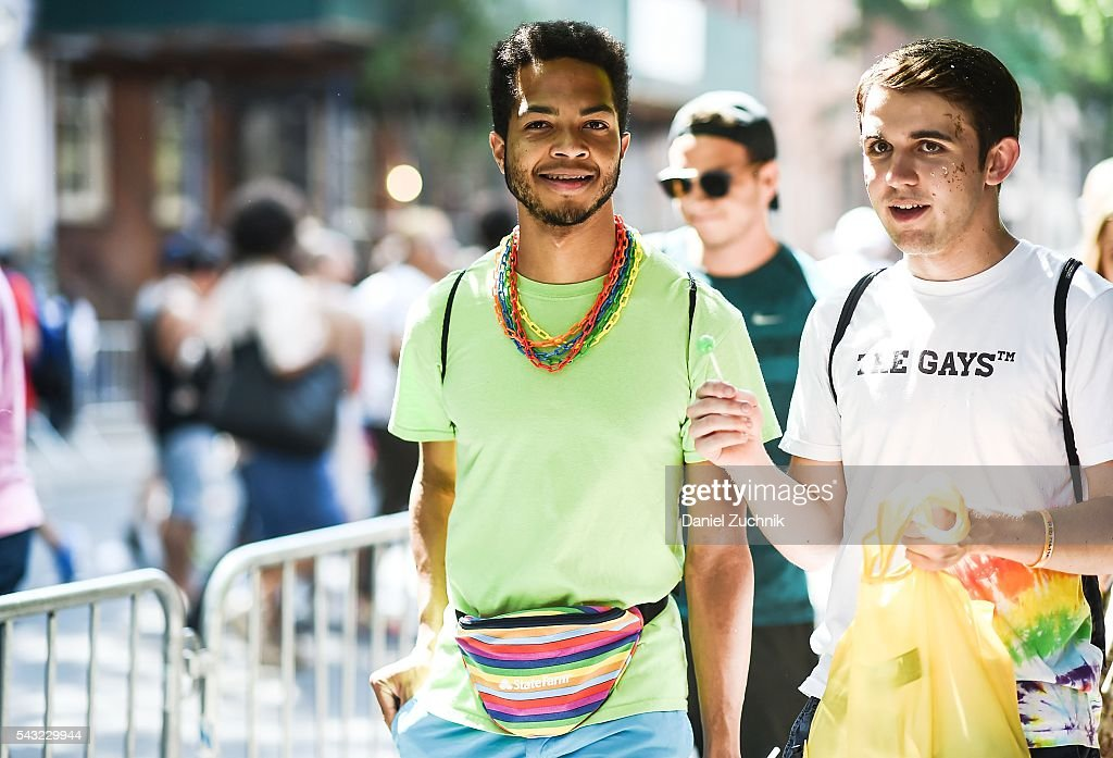 People seen heading to the 2016 New York City Pride Parade on June 26, 2016 in New York City.