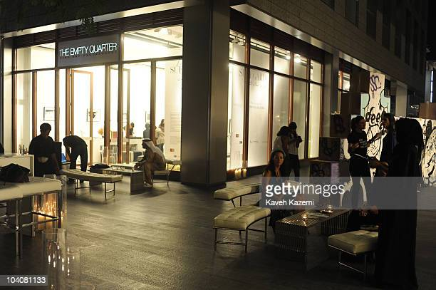 People seen outside galleries during an arts evening held at Dubai International Financial Centre The DIFC is the world's fastest growing...