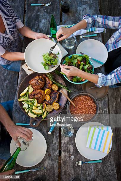 People sharing a meal