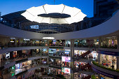 People shop at the Santa Fe Mall in Medellin Colombia on Saturday July 26 2014 The Andean nation's economy expanded 64 percent in the first quarter...