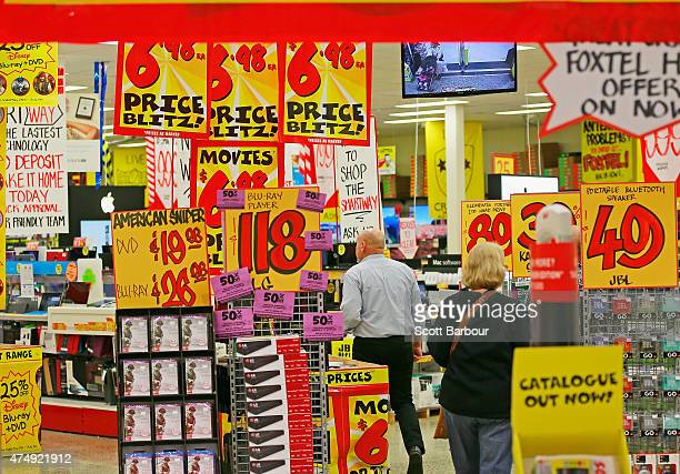 People shop in a JB HiFi store on May 28 2015 in Melbourne Australia Forecasters predict the tax breaks for small business outlined in the 2015...
