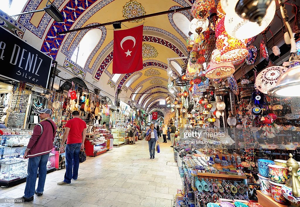 People shop in the Grand Bazzar on June 17, 2013 in Istanbul, Turkey.