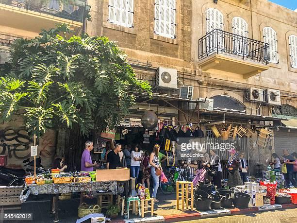 Menschen Einkaufen in alten Yafo, Tel Aviv, Israel