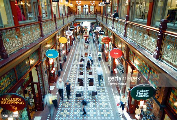 People shopping in the Strand Arcade Sydney