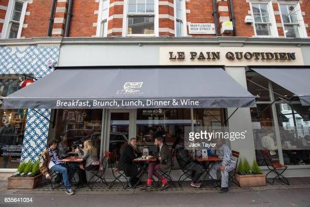 People sit at a Le Pain Quotidien in Marylebone on February 16 2017 in London England The Association for Licensed Multiple Retailers have written to...