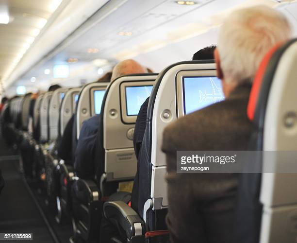 People sitting in an airplane