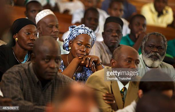 People sitting in the lecture hall of the institute for applied agriculture research and education on March 28 in Katibougou Mali