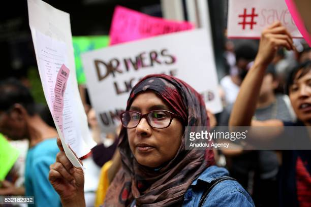 People stage a rally against US President Donald J Trump's potential repealing of Deferred Action for Childhood Arrivals which protects undocumented...