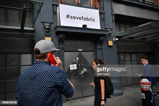 People stand outside Fabric nightclub following the announcement of its closure on September 7 2016 in London England Fabric which opened in 1999 and...