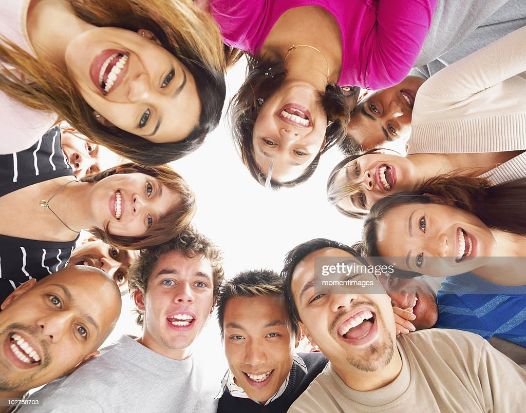 People standing in a circle : Stock Photo