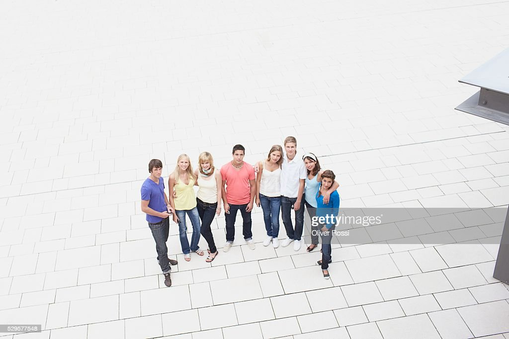 People Standing in Plaza : Stock-Foto